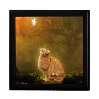 Cat And Fairy Large Square Gift Box