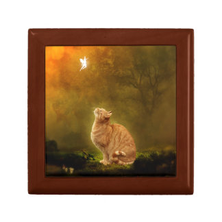 Cat and Fairy Small Square Gift Box
