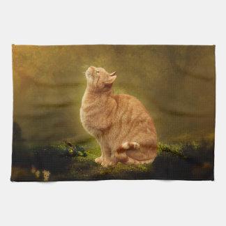 Cat And Fairy Tea Towel