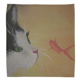 cat and fish bandana
