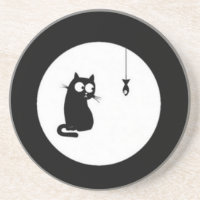Cat and Fish Coaster