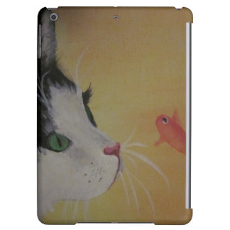 cat and fish i-pad air case