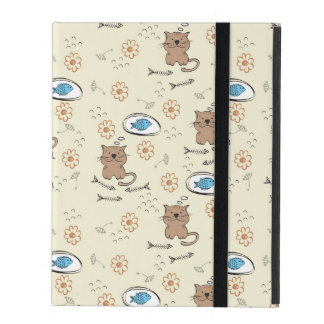 cat and fish pattern cover for iPad