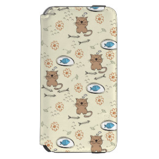 cat and fish pattern incipio watson™ iPhone 6 wallet case
