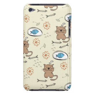 cat and fish pattern iPod touch cover