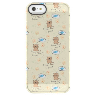 cat and fish pattern permafrost® iPhone SE/5/5s case