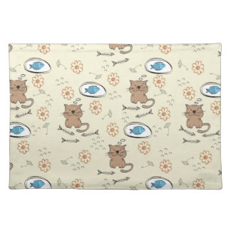 cat and fish pattern placemat
