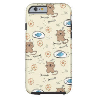 cat and fish pattern tough iPhone 6 case