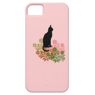 Cat and flower iPhone 5 cover
