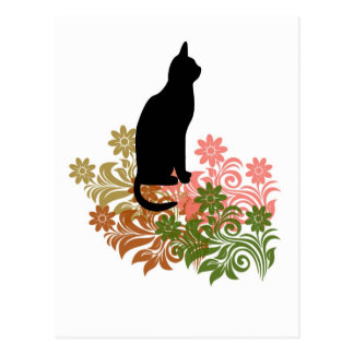 Cat and flower post cards