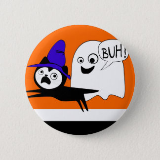 cat and ghost pin