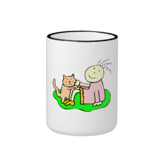 Cat And Girl Coffee Mug