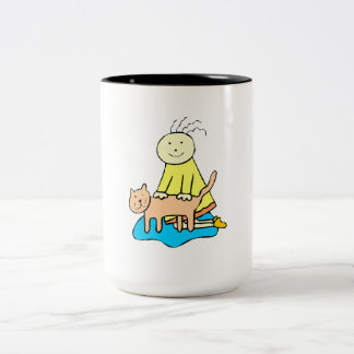 Cat And Girl Mug