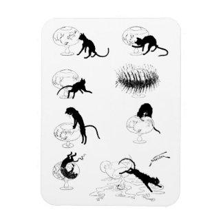 Cat and Goldfish, Alexandre Steinlen Rectangular Photo Magnet