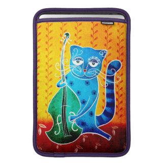 Cat and jazz MacBook sleeve