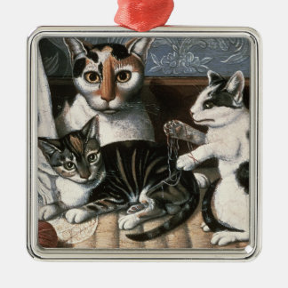 Cat and Kittens, c.1872-1883 Christmas Ornament