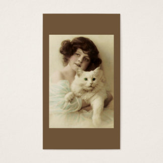 Cat and Lady PURRfect Beauty Business Card