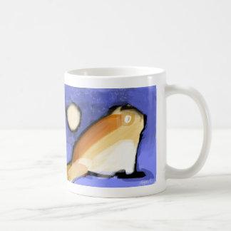 Cat and moon basic white mug