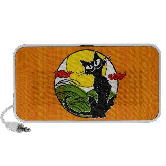 Cat and Moon (Japanese style) Mini Speaker