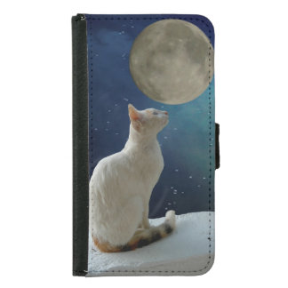 Cat and Moon Samsung Galaxy S5 Wallet Case