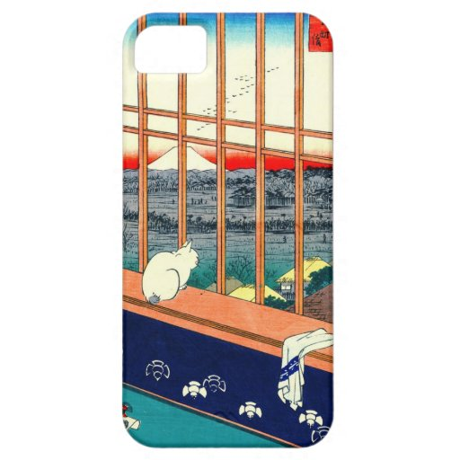 Cat and Mount Fuji 1857 iPhone 5 Cases