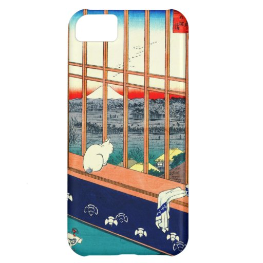 Cat and Mount Fuji 1857 Case For iPhone 5C