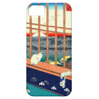 Cat and Mount Fuji 1857 iPhone 5 Covers
