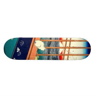 Cat and Mount Fuji 1857 Skate Board Decks