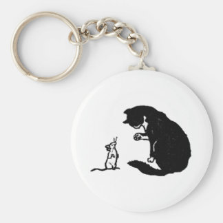 Cat and Mouse Artwork Key Ring