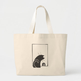Cat and Mouse Jumbo Tote Bag