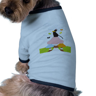 Cat and mushroom and butterfly (Cat with mushrooms Doggie Tshirt