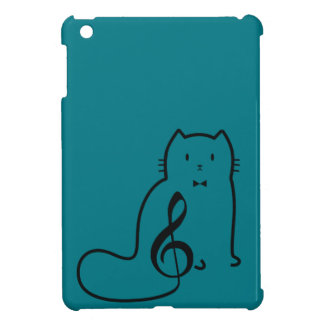 CAT AND MUSIC NOT iPad MINI COVER