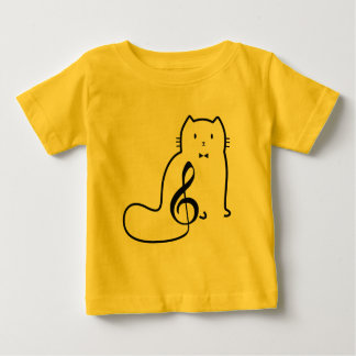 CAT AND MUSIC NOTE BABY T-Shirt