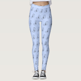 CAT AND MUSIC NOTE LEGGINGS