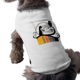 Cat and Owl Original Design Doggie Tshirt