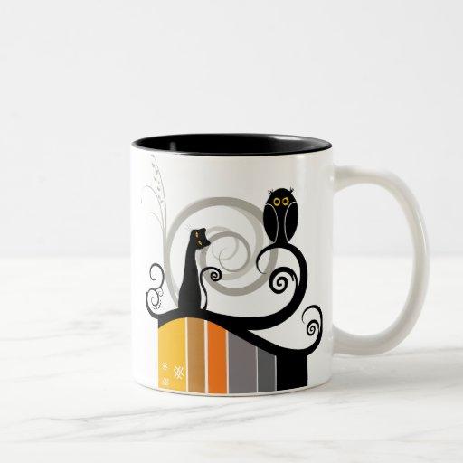 Cat and Owl Original Design Mugs
