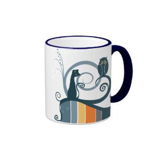 Cat and Owl Original Design Coffee Mugs