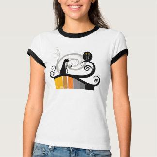 Cat and Owl Tee Shirt