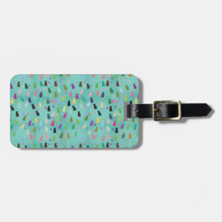 Cat and Paws Pattern Luggage Tag