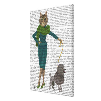 Cat and Poodle Canvas Print