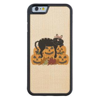 Cat and Pumpkins Maple iPhone 6 Bumper