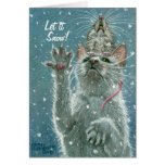 Cat and Rat Greeting Card, Let it Snow!
