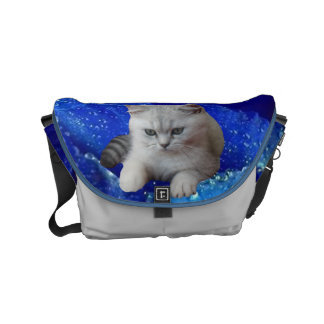 Cat and Rose Messenger Bags