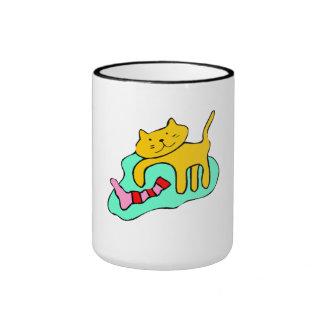 Cat And Sock Mugs