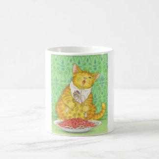 CAT and spaghetti Basic White Mug