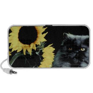 Cat and Sunflower Laptop Speakers