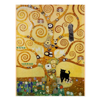 Cat and Tree of Life Postcard