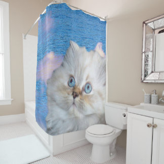 Cat and Water Shower Curtain