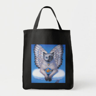 "Cat Angel ""Kitty Yin Yang"" Tote Bags"