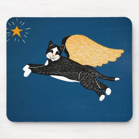 Cat Angel Mousepad - Stephen Huneck
